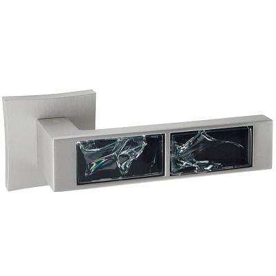 Ручка Oro&Oro 203-13E BLACK GLASS MSN перламутровый никель