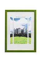 Фоторамка из пластика Зелёный / салатовый металлик - грамот, дипломов, сертификатов, фото, вышивок! Elf, 10х15 см.