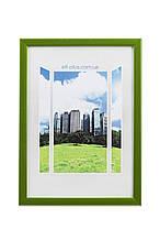 Фоторамка из пластика Зелёный / салатовый металлик - грамот, дипломов, сертификатов, фото, вышивок!
