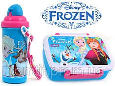 """Набор """"Frozen (Фроузен - холодное сердце)"""".  Ланч бокс (ланчбокс) + бутылка с трубочкой"""