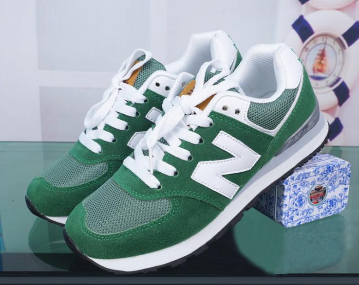 Кроссовки New Balance 574 Green Зеленый женские реплика