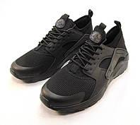 Кроссовки мужские Nike Huarache сетка черные (р.41)