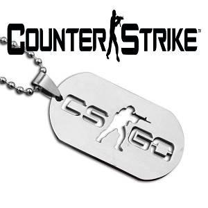 Кулон жетон Counter-Strike CS:GO из нержавейки