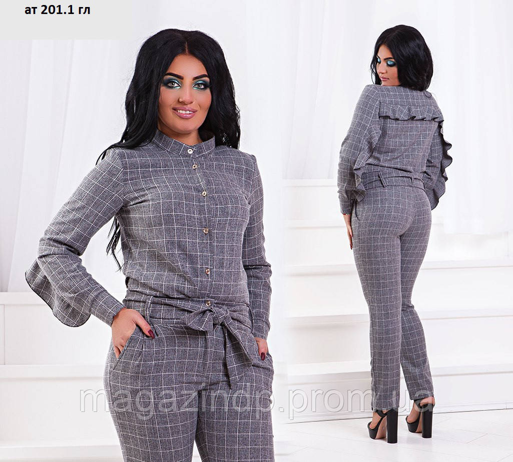 Брючный женский костюм ат 201.1 гл Код:666372313
