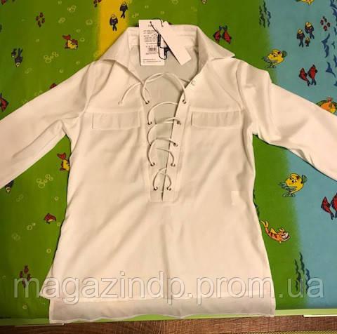 Рубашка со шнуровкой белая Нал Код:667010524