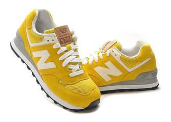 Кроссовки New Balance 574 Yellow Желтый женские реплика