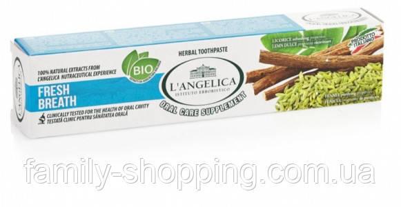 Зубна паста L Angelica «Свіже дихання», 75 мл