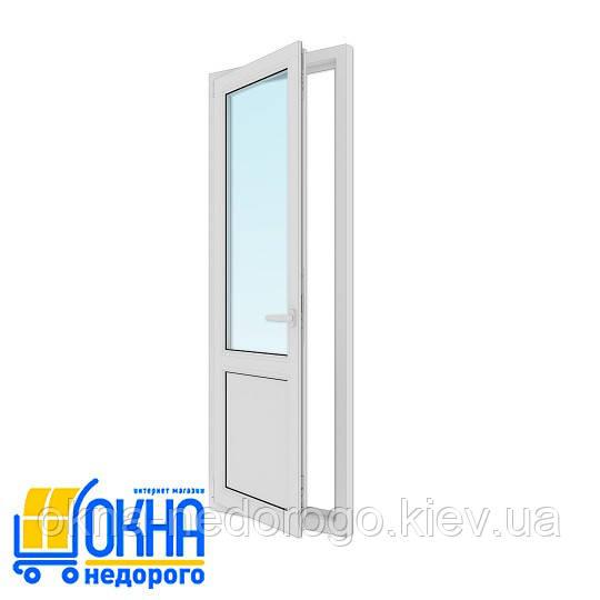 Двери балконные пластиковые 750х2100