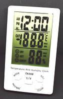 12-14-32. Цифровой термометр TA308 (термометр+влажность+часы)