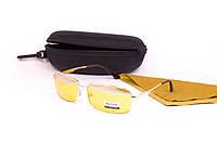 Желтые очки для водителей с футляром F8882-2