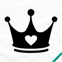 Аппликации для бизнеса на нижнее белье Корона [7 размеров в ассортименте] (Тип материала Матовый)