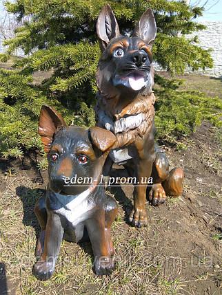 Садовые фигуры Немецкие овчарки, фото 2