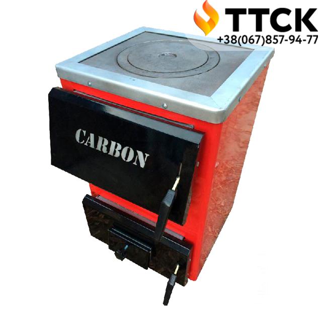 Котел твердопаливний з чавунною плитою Карбон (CARBON) КСТО 14 П Котел-плита Турбований