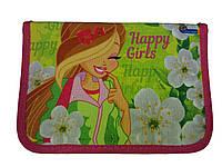 """Пенал 1 отделение 2 отворота """"Happy girls""""  SM-18172"""