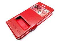 Чехол книжка с окошками momax для Huawei Nova 2 красный