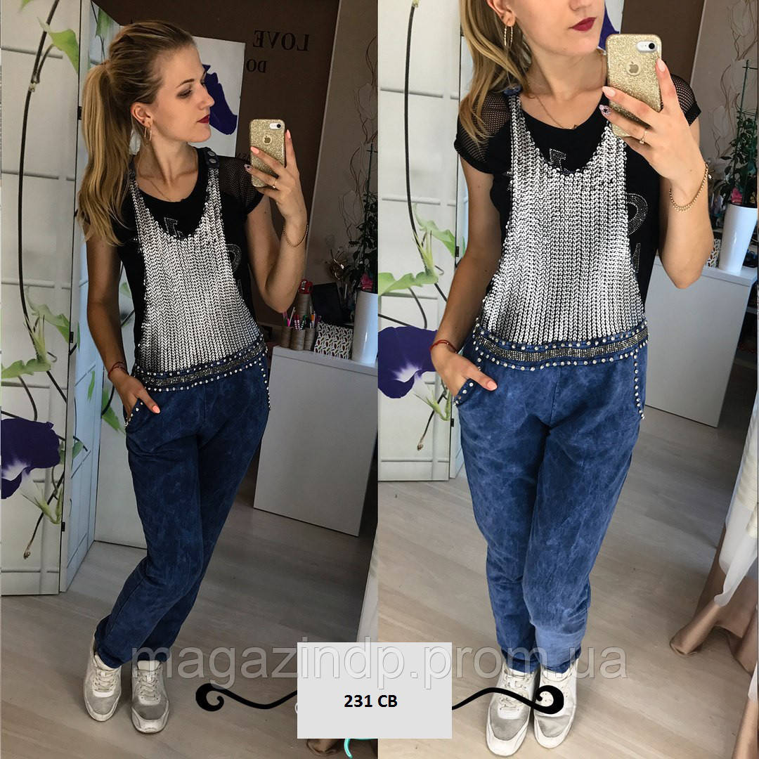 Комбинезон джинсовый 231 СВ Код:675750505