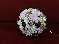 Свадебный букет-дублер для невесты розовый с марсала и айвори