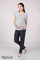 Свободные брюки для беременных HANNA, из принтованного штапеля,, фото 1