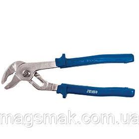 Клещи переставные для труб Sigma 250мм с синими ручками (4102951)