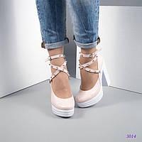 Женские туфли на платформе с ремешком вокруг ножки 37 39