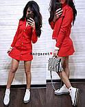 Женский стильный костюм стрейч-джинс: жакет и юбка-трапеция (4 цвета), фото 7
