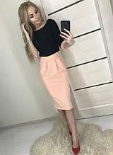 Платье женское 42-46р черный верх розовая юбка