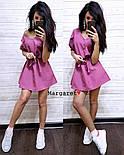 Женское платье-трапеция с поясом (7 цветов), фото 2