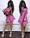 Женское платье-трапеция с поясом (7 цветов), фото 7