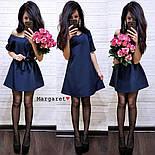 Женское платье-трапеция с поясом (7 цветов), фото 10
