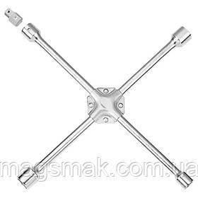 """Ключ крестовой усиленый с адаптером 19х21х22х17(½"""") ULTRA (6031022)"""