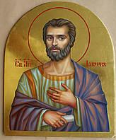 Сусальное золочение иконы Святого апостола Иакова для хороса в храм.