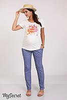 Модные брюки-чинос TAYA, из стрейч-поплина, джинсово-синие*, фото 1