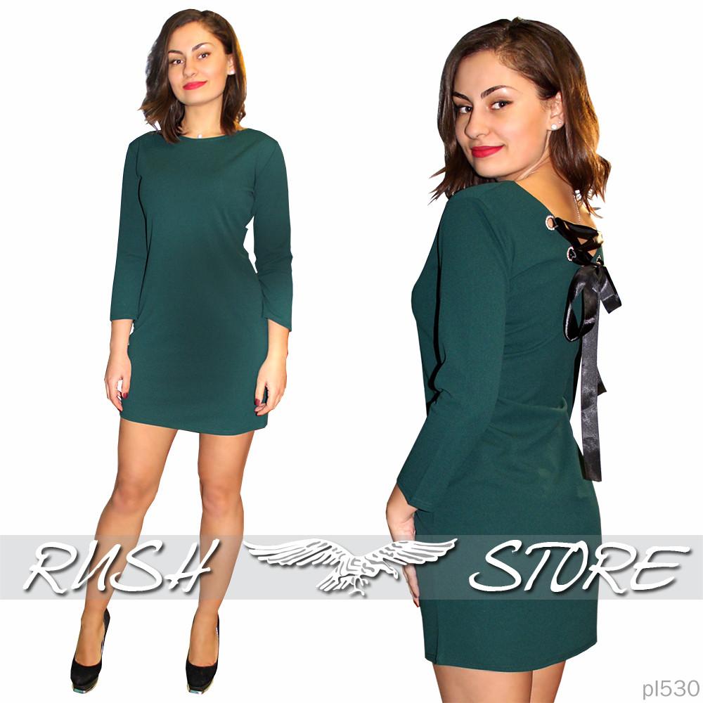 4cf11676c88 Женское платье с лентами завязками на спине - RUSH STORE интернет-магазин  женской одежды в