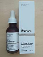 Пилинг на кислотах  The Ordinary  AHA 30% + BHA 2% Peeling Solution, 30ml