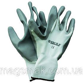 Перчатки трикотажные с частичным нитриловым покрытием (манжет нейлон) Sigma (9223101)