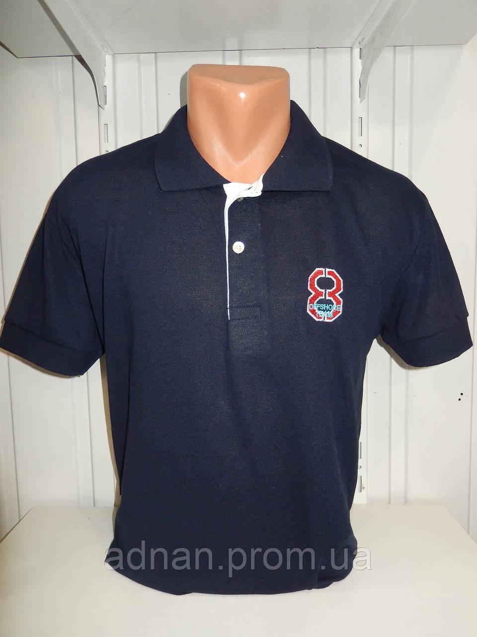 Футболка мужская ERKEK 8 поло однотонная, полубатал 002 \ купить футболку мужскую оптом