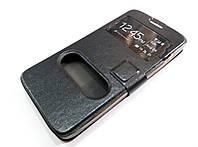 Чехол книжка с окошками momax для Huawei Ascend G630 черный
