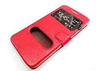 Чехол книжка с окошками momax для Huawei Ascend G630 красный