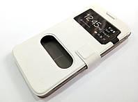 Чехол книжка с окошками momax для Huawei Ascend G630 белый