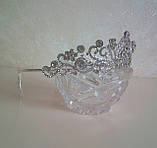 Корона для конкурса, диадема под серебро, тиара, высота 4,5 см., фото 5