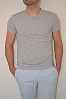 Мужская футболка серый меланж