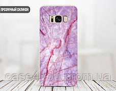 Силиконовый чехол для Meizu M6 Note Розовый мрамор (21032-3012), фото 3