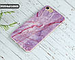Силиконовый чехол для Meizu M6 Note Розовый мрамор (21032-3012), фото 2