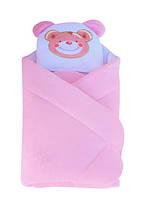 """Конверт - одеяло для новорожденного с подушкой  coral fleece ( розовый ) """"Duetbaby"""""""