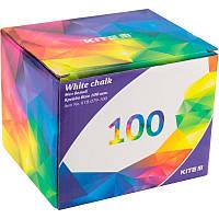 Мел белый Kite круглый для школьной доски 100 шт K18-079-100