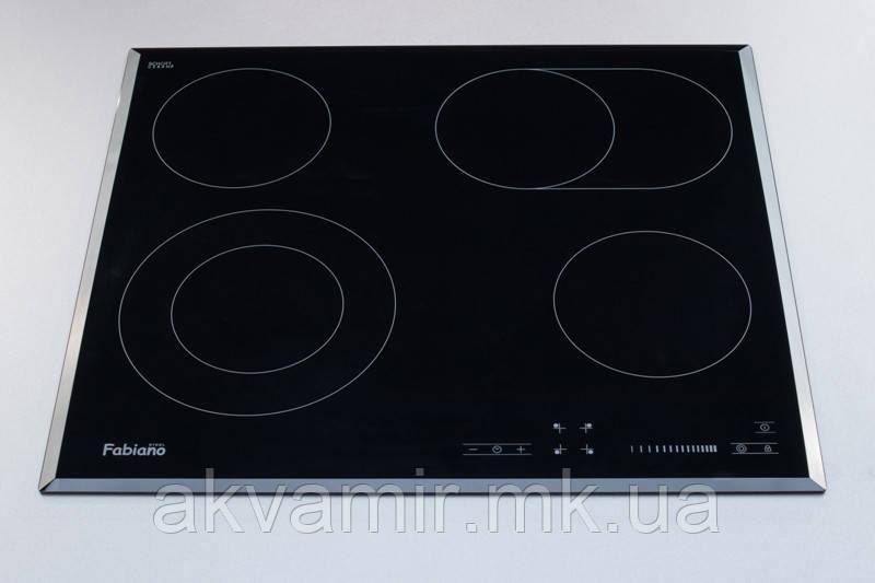 Варочная панель Fabiano FHE 18-44 VTC Lux (X) черная/нерж электрическая