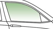Автомобільне скло передніх дверей опускное праве DAEWOO ESPERO 4Д 1995-1999 3001RGNS4FD зелене