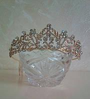 Диадема под золото, корона, тиара, высота 4,5 см.