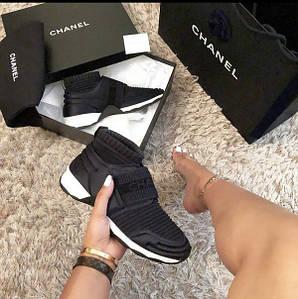 Женские Сhanel stretch sneakers black