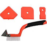 Набор шпателей для силикона и щетка 4 ед. Yato YT-52621 Код:497670355